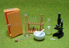 Bandai Miniatures: Sciecen Lab Mortar Pestle Flask Test Tubes Microscope Miniatures (by HarapekoDoggyBag)