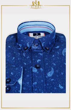 Shop for Doctor Junior Boys Slim fit Paisley Patterned Navy Blue Smart Shirt at SIRRI Paisley Pattern, Paisley Print, Outfit Shop, 3 Piece Suits, Boys Shirts, Wedding Suits, Communion, Kids Outfits, Navy Blue