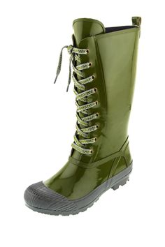 Dizzy Awesome Lace-Up Rain Boot