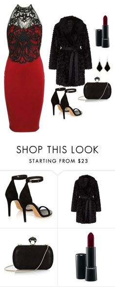 """""""Hellena Lace Trim Bodycon Dress"""" by luvsassyselfie ❤ liked on Polyvore featuring Isabel Marant, DVF, MAC Cosmetics and Kendra Scott"""