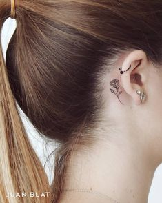 50 Adorable Micro Tattoos by Juan Blat Rose Tattoo Behind the Ear by Juan Blat More from my site tattoomenow.tatto… – create your own unique tattoo! Tattoo… How to Care for a New Color Tattoo Unique ear piercing Unique Ear Piercings Sexy Tattoos, Mini Tattoos, Trendy Tattoos, Body Art Tattoos, Sleeve Tattoos, Small Rose Tattoos, Small Tattoos On Wrist, Best Star Tattoos, Tattoo Drawings