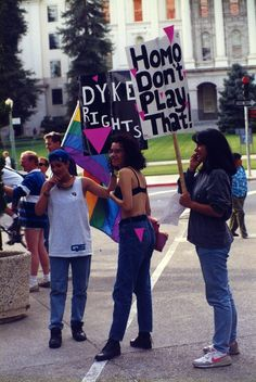 Late 80's LGBT rights protest