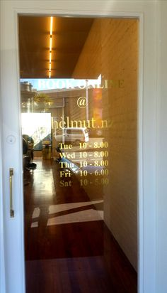 Window graphics for Helmut by Speedy Signs Newton