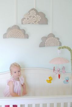 Doily Clouds via Hart and Sew