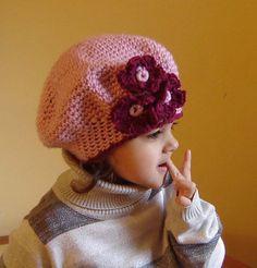 Pink Beret Hat CROCHET PATTERN - RAVELRY