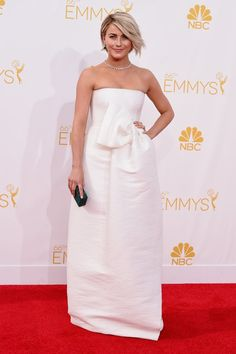 Pin for Later: See Every Dress to Hit the Emmy Awards Red Carpet Julianne Hough Julianne Hough added sparkling diamonds to her minimalist white Dsquared2 column.