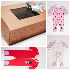 Newborn Baby Gift Pack - Girls $49.00 (was $85) beautiful soft cotton baby zip rompers  www.lilzippers.com.au