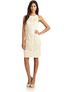 Sue Wong Soutache Lace Dress. Available in a navy that is beautiful but backordered.