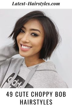 A bob with choppy layers is a great haircut for women with thin and thick hair. Hit the link to see gorgeous examples of choppy bob hairstyles. Photo credit: Instagram @christinagarciasalon Choppy Bob Hairstyles, Latest Hairstyles, Easy Hairstyles, Choppy Cut, Choppy Layers, Great Haircuts, Haircut For Thick Hair, Photo Credit, Hair Ideas