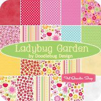 """Ladybug Garden 5"""" Stacker Doodlebug Design for Riley Blake Designs - Fat Quarter Shop"""