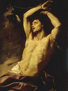 Giclee Print: Gian Battista Beinaschi Art Print by Gian Battista Beinaschi : Rennaissance Art, St Sebastian, Baroque Art, Renaissance Paintings, Classic Paintings, Classical Art, Gay Art, Pretty Art, Aesthetic Art