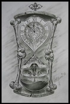 Drawn hourglass black and white - pin to your gallery. Explore what was found for the drawn hourglass black and white Tattoo Design Drawings, Skull Tattoo Design, Skull Tattoos, Tattoo Sketches, Body Art Tattoos, New Tattoos, Drawing Sketches, Sleeve Tattoos, Tattoos For Guys