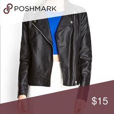 Forever 21 leather jacket Faux moto leather jacket Forever 21 Jackets & Coats