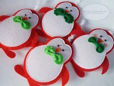 Елочные игрушки из фетра + Выкройки и МК Санта -Клауса.