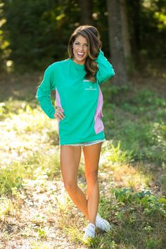 Lauren James Co. PrepCheck sweatshirt is the softest sweatshirt you'll own this winter! We love the gingham panels up the side! MADE IN USA shoplaurenjames.com #laurenjames
