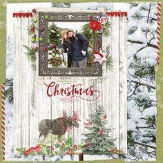 Scrapbooking Layouts, Scrapbook Pages, Digital Scrapbooking, Christmas Lodge, Photoshop Elements, Adobe Photoshop, Online Images, Wonderful Time, Digital Art