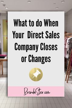 We like to think that the company we joined - the one that we were so passionate about - will be around forever, but that's not always the case. And if that happens, if the company makes a pivot where they change their structure or worse - close - what should you do first? Read on for tips on what to do if your direct sales company closes or changes. Don't forget to repin this for later!! Direct Sales // Direct Sales Tips // Direct Sales Company