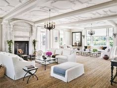 Find home décor inspiration at Architectural Digest. Everything you'll need to design each and every room in your house, from the kitchen to the master suite. Architectural Digest, Beautiful Living Rooms, Beautiful Homes, House Beautiful, Beautiful Beautiful, Long Island House, Living Room Decor, Living Spaces, Living Area