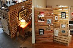 raumteiler mit europaletten m bel selber machen aus. Black Bedroom Furniture Sets. Home Design Ideas