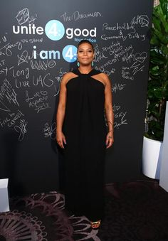Queen Latifah wore a Spring 2015 #StJohnKnits gown to the Unite4:humanity gala at the Beverly Hilton Hotel on Thursday, February 19th. The unite4:humanity event brought together the entertainment industry's brightest stars to recognize and honor them for their philanthropic commitment.