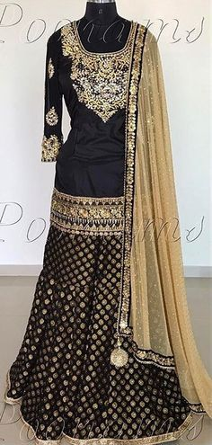 For my shagun lehenga Indian Attire, Indian Wear, Pakistani Outfits, Indian Outfits, Trendy Dresses, Nice Dresses, Gharara Designs, Look Short, Desi Clothes