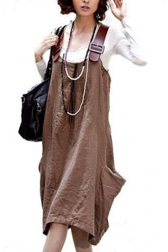 suspender skirt line brown suspender img-2