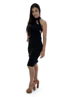 Vestido Midi Costa Transpassada Ivana - Bis Bis
