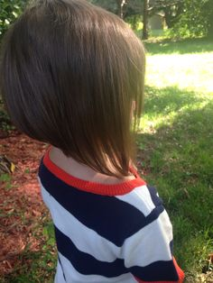 Stacked bob little girl haircut
