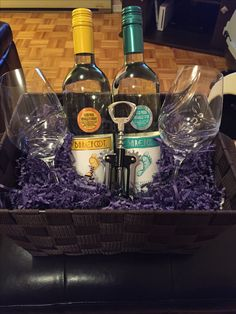 53 coolest diy mason jar gifts other fun ideas in a jar do it simple gift basket for any wine lover solutioingenieria Gallery