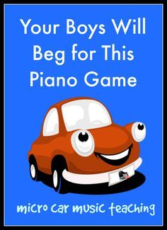 Your boys will go crazy for theory with this piano teaching game www.teachpianotoday.com