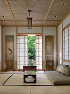 Formal living room for Japanese house - decoration ideas - Maximina A. Asian Living Rooms, Japanese Living Room Decor, Japanese Home Decor, Meditation Raumdekor, Meditation Room Decor, Japan Design, Interior Design Living Room, Living Room Designs, Design Interiors