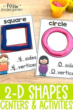 Practice 2D shapes with these fun ideas for preschool or kindergarten. Plenty of ideas for math centers or morning work stations. Great fine motor practice to discuss attributes, sides, vertices and more. Help Teaching, Teaching Writing, Writing Practice, Word Work Stations, Fall Words, Writing Station, Kindergarten Math Activities, Vocabulary Cards, Morning Work