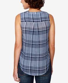 Lucky Brand Cotton Plaid Shirt - Blue XL