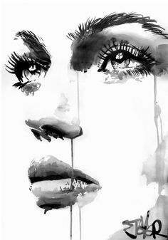 "Saatchi Art Artist LOUI JOVER; Drawing, ""face study #17"" #art"