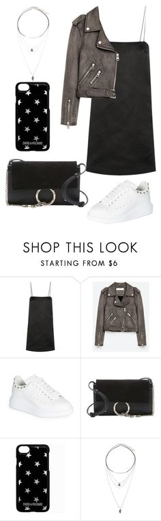 """""""Untitled #2125"""" by kellawear on Polyvore featuring The Row, Alexander McQueen, Chloé, Zadig & Voltaire and Forever 21"""