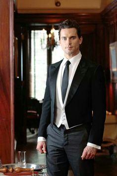 "Matt Bomer as 'Neal Caffrey' as 'Carlisle' from USA's ""White Collar""."