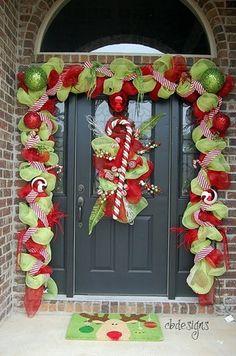 weihnachtliche Deko ideen Haustür