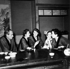 Walter Gropius, Charlotte Perriand and Pernette Perriand-Barsac in Japan in the 1950s