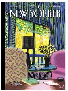 David Hockney- Cover for New Yorker June 2011