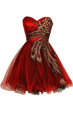 metallic peacock red and black short prom dresses with corset and tutu skirt - Best tutu peacock prom dress! Cheap Short Prom Dresses, Junior Prom Dresses, Evening Dresses For Weddings, Cute Dresses, Beautiful Dresses, Formal Dresses, Dresses 2013, Gorgeous Dress, Formal Prom