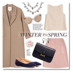 """""""Winter to Spring Layers"""" by miee0105 ❤ liked on Polyvore featuring Monki, Givenchy, MANGO, ADAM, Chloé, Linda Farrow and Alexander Wang"""