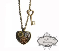 Heart Pendant with Cogs and Gears. - pinned by pin4etsy.com