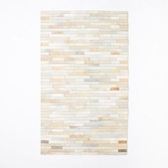 Pieced and Patched Stripe Leather Rug, 5'x8', Multi
