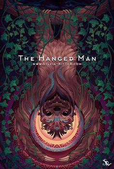 The Hanged Man - Sylvia Ritter Tarot Hanged Man Tarot, The Hanged Man, Sylvia Ritter, Tarot Card Spreads, Tarot Major Arcana, Oracle Cards, Tarot Decks, Archetypes, Aesthetic Art