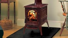 Love this Vermont Castings Aspen wood burning stove!  Maybe it could live in my family room someday...