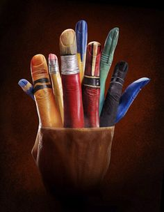 Amazing Hand Paintings by Ray Massey | Rungmasti --- Have masti With Colors