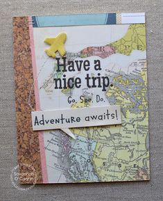 Have a Nice Trip card by Savannah O'Gwynn for Paper Smooches - Happy Travels stamp set, Speech Bubbles die