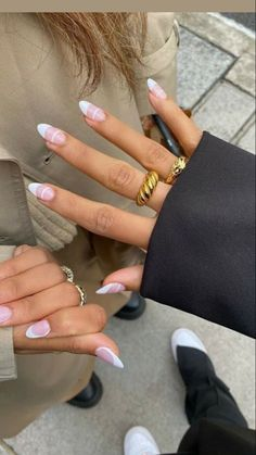 Bling Acrylic Nails, French Acrylic Nails, Best Acrylic Nails, French Nails, Edgy Nails, Swag Nails, Stylish Nails, Nail Manicure, Gel Manicure Designs
