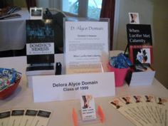 "D. Alyce Domain (Class of '98), author of ""When Lucifer Met Calamity"" & ""Dominic's Nemesis"""