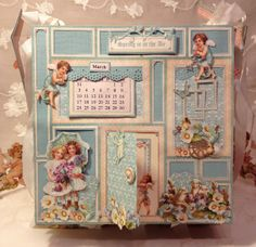 Sweet Sentiments easel mini album calendar - Anne Rostad